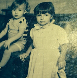 Me at 4 circa 1989 in Romania with my kid brother, Alex. My kid looks just like him.